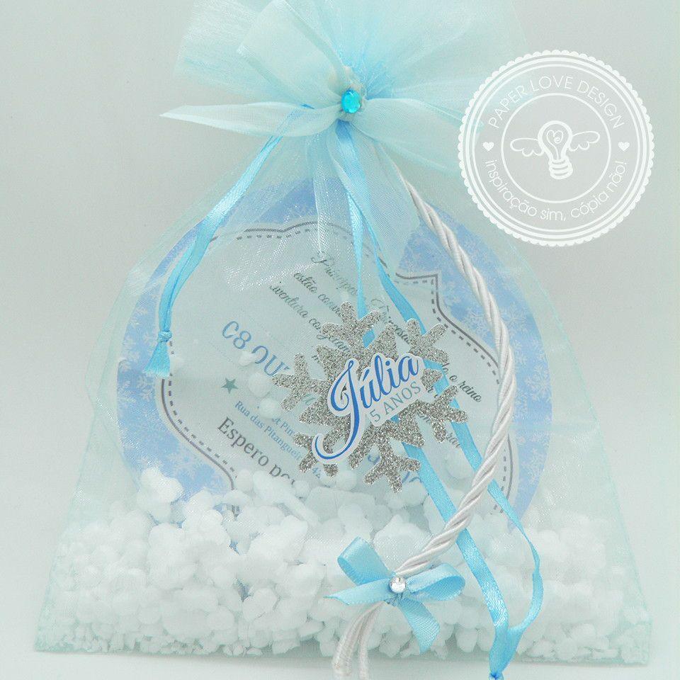 Convite Sacola frozen neve