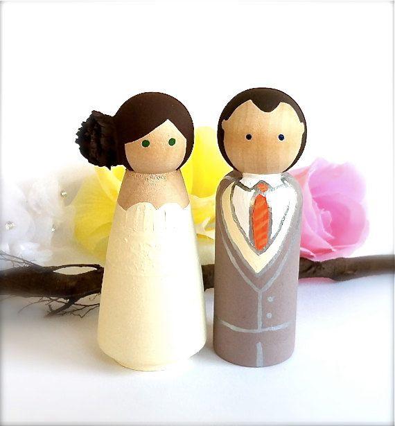 WEDDING CAKE TOPPER Custom Bride and Groom by CreativeButterflyXOX ...