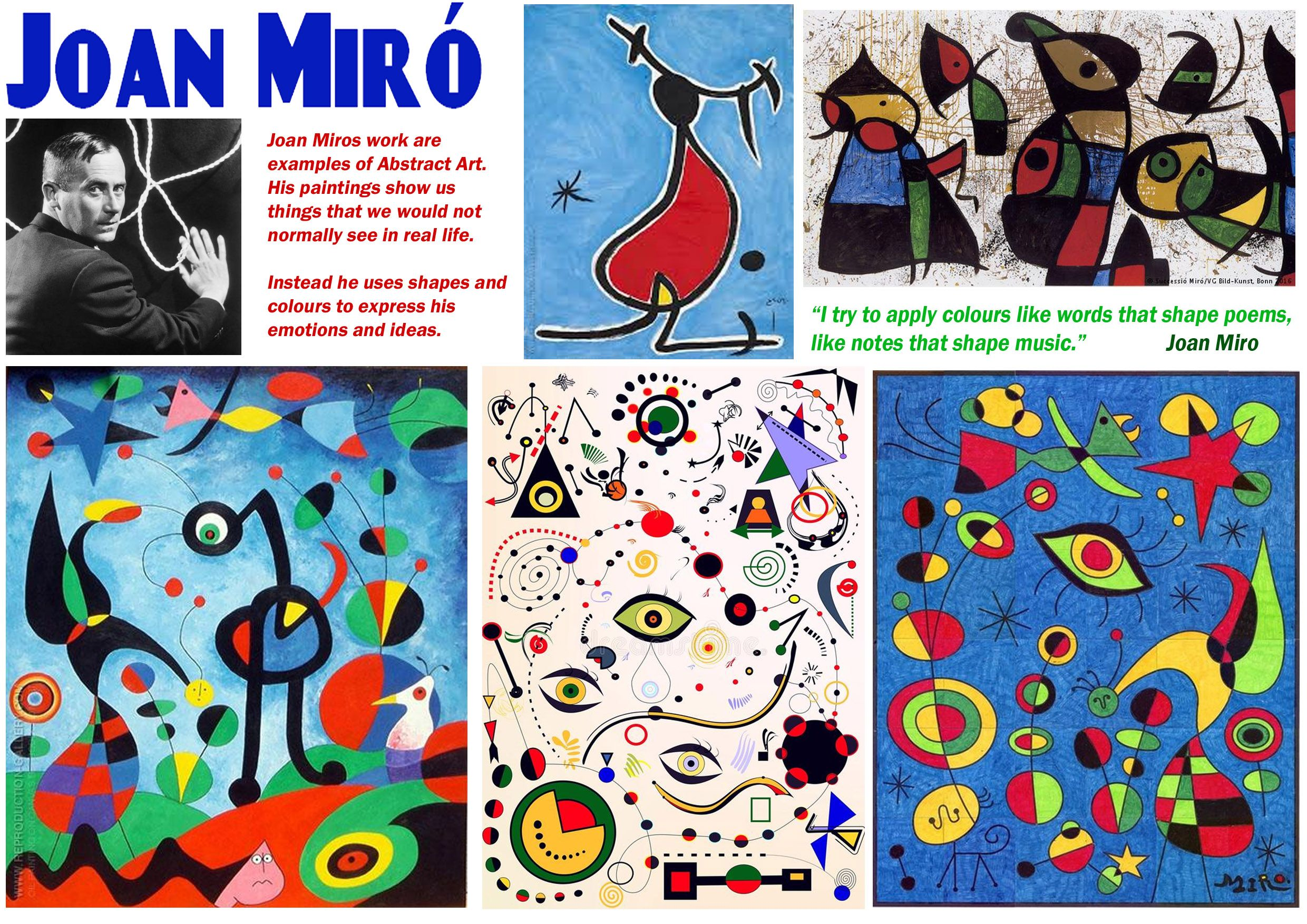 Joan Miro Image By Aby Mackie On Kids Classes