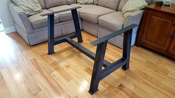 chunky a 4 metal table legs with cross bar 4 tables for josh rh pinterest com