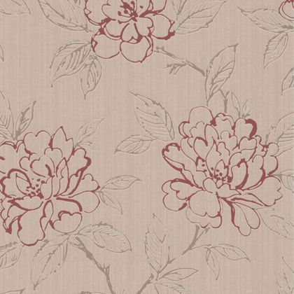 Graham brown texture bloom wallpaper red at homebase for Wallpaper homebase