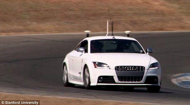 self driving car wins race against human race driver qnr qu bec news rides articles. Black Bedroom Furniture Sets. Home Design Ideas