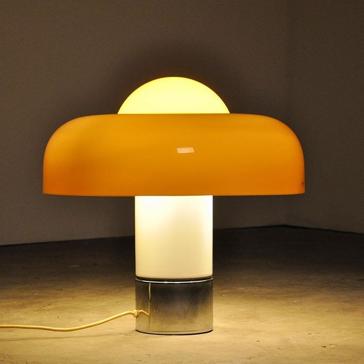 Luigi Massoni Brumbury Harvey Guzzini Italy 1969 Interior Led Lights Lamp Design Lamp
