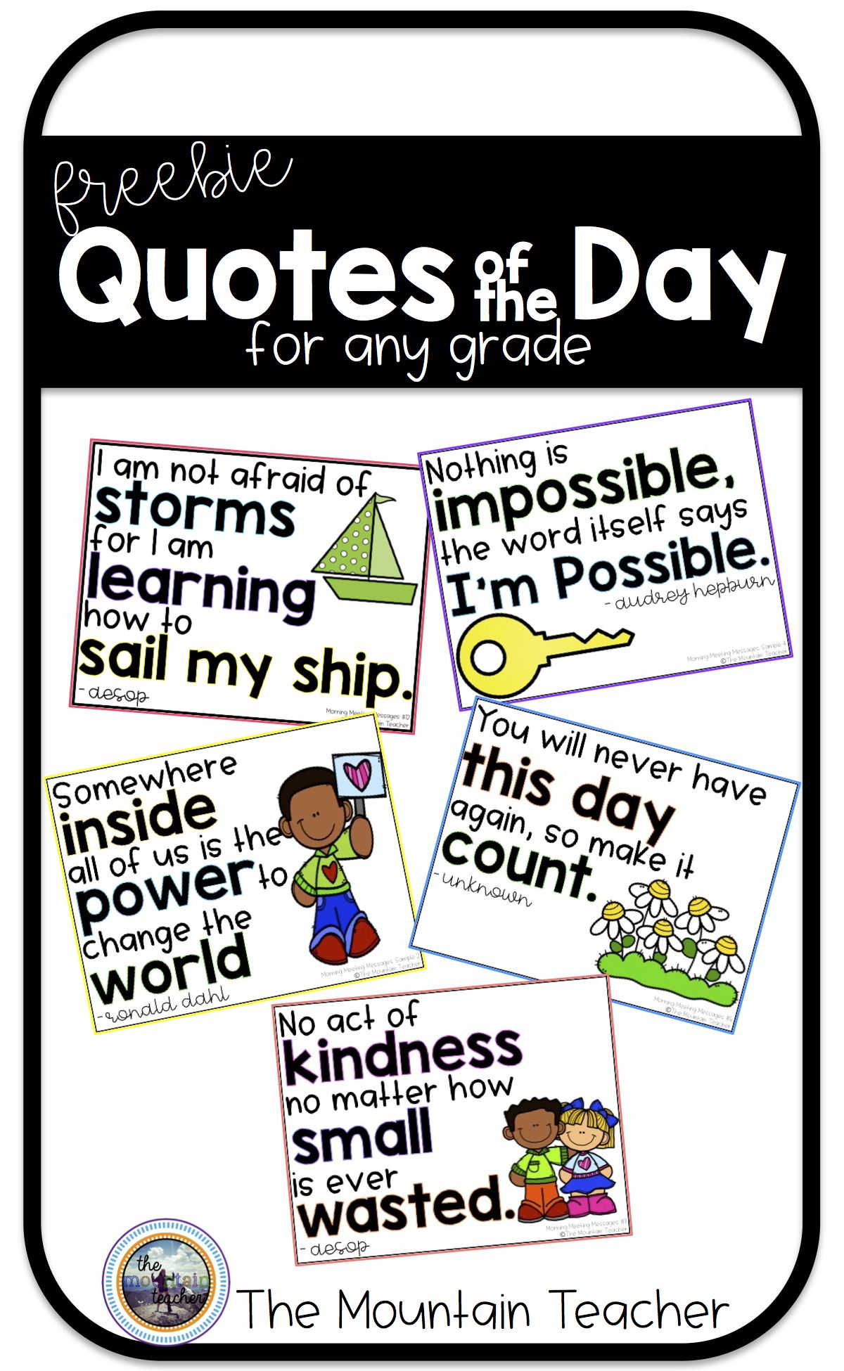 quote of the day sample pack teaching quotes classroom quotes