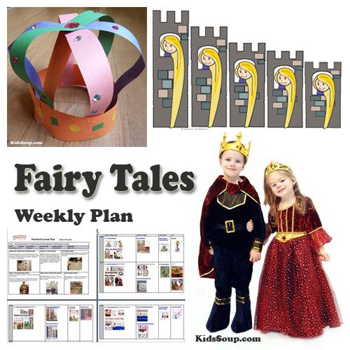 Crown Lesson Plan: Once Upon A Time Fairy Tales Activities, Crafts, And