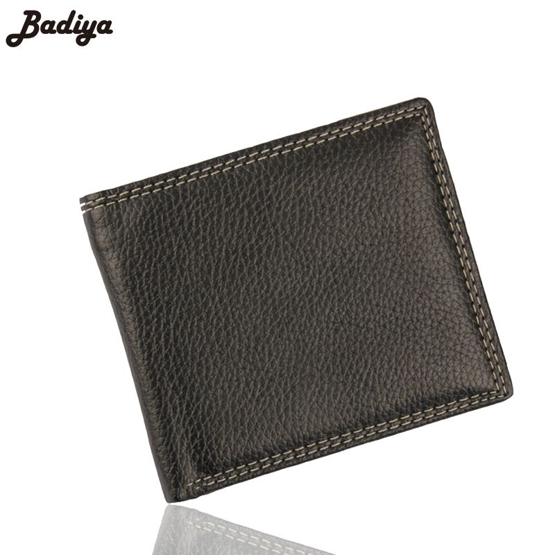 Famous Brand Fashion Men Short Wallet PU Leather Thin Purse Business ...