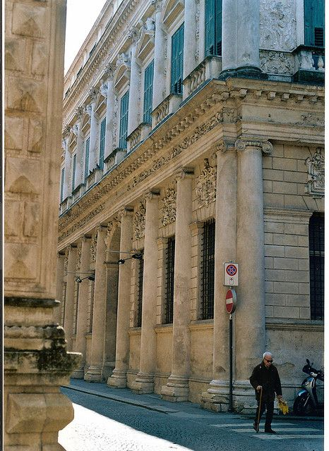 Palazzo Porto Barbaran, designed in 1569 and built between 1570 and 1575 by Andrea Palladio.  Vicenza.