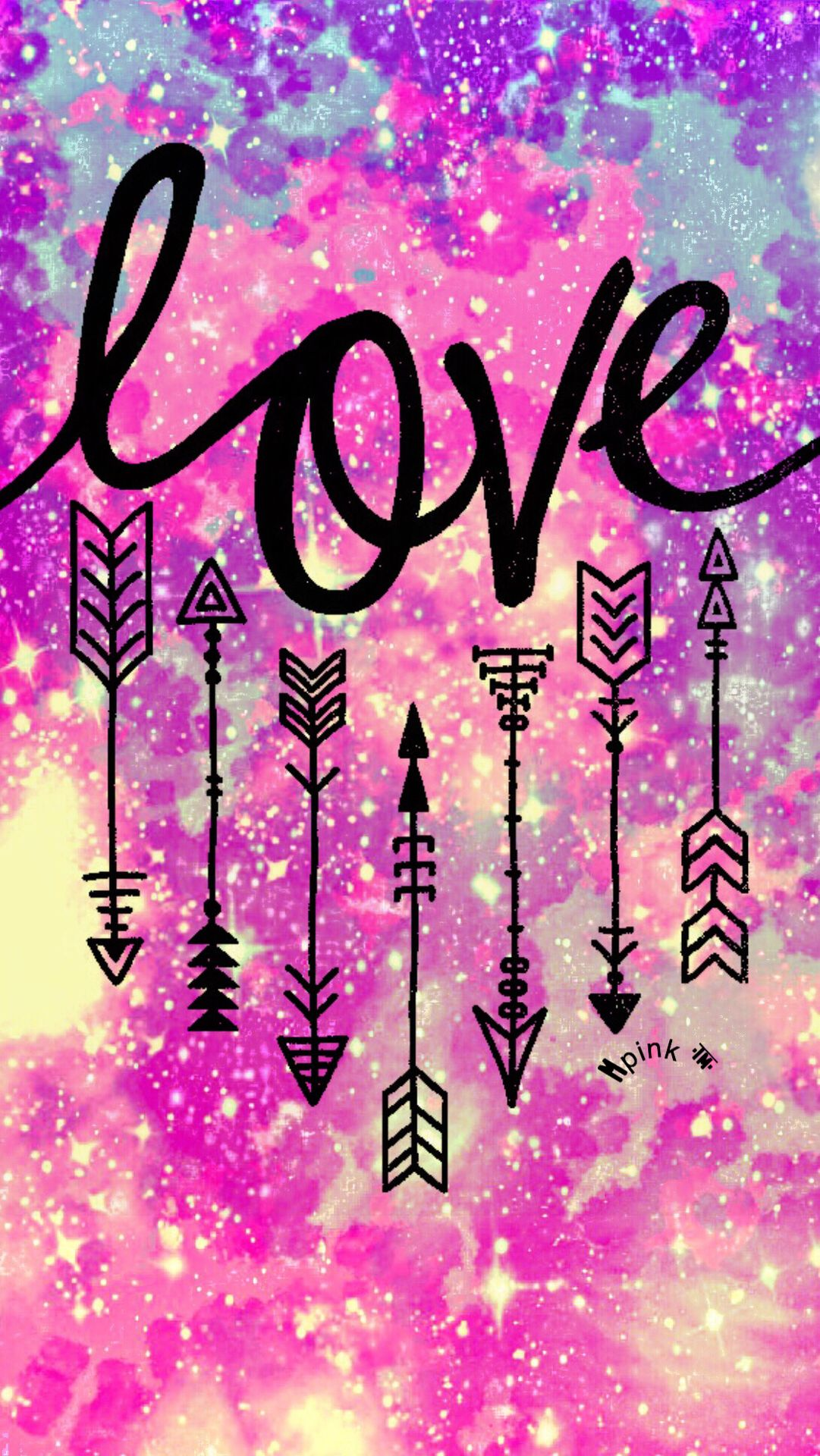 Love Hipster Arrows Galaxy iPhone/Android Wallpaper  My Wallpaper Creations in 2019  Cute