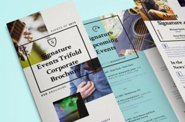 This Is Our New Trifold Brochure Template Ideal For Event