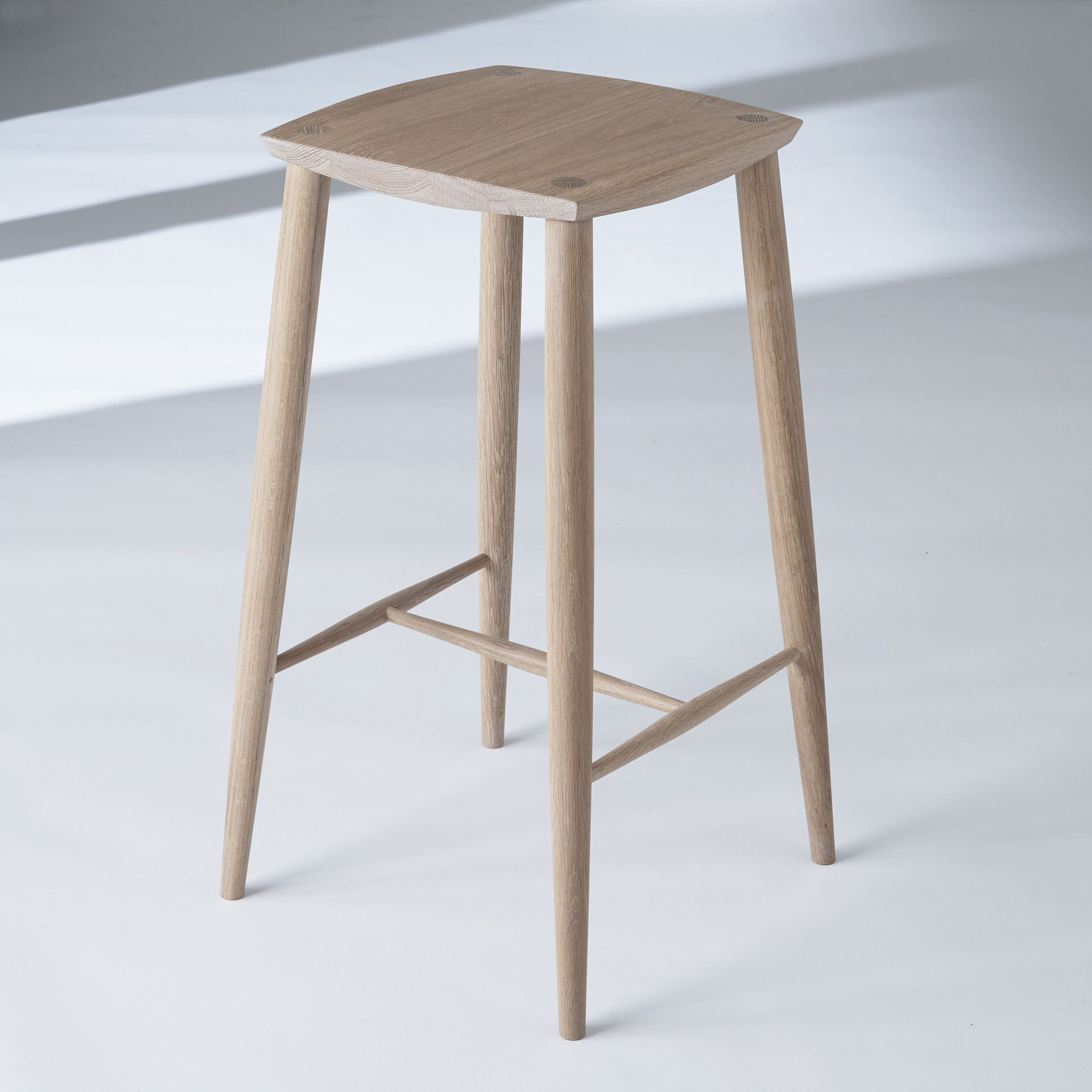 The Palmerston Stool in White Oak Stool, Counter height