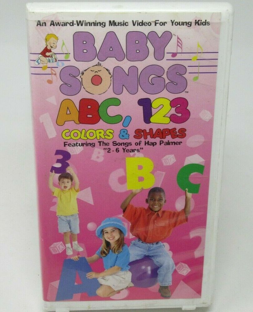 BABY SONGS ABC, 123 COLORS & SHAPES VHS VIDEO, HAP PALMER