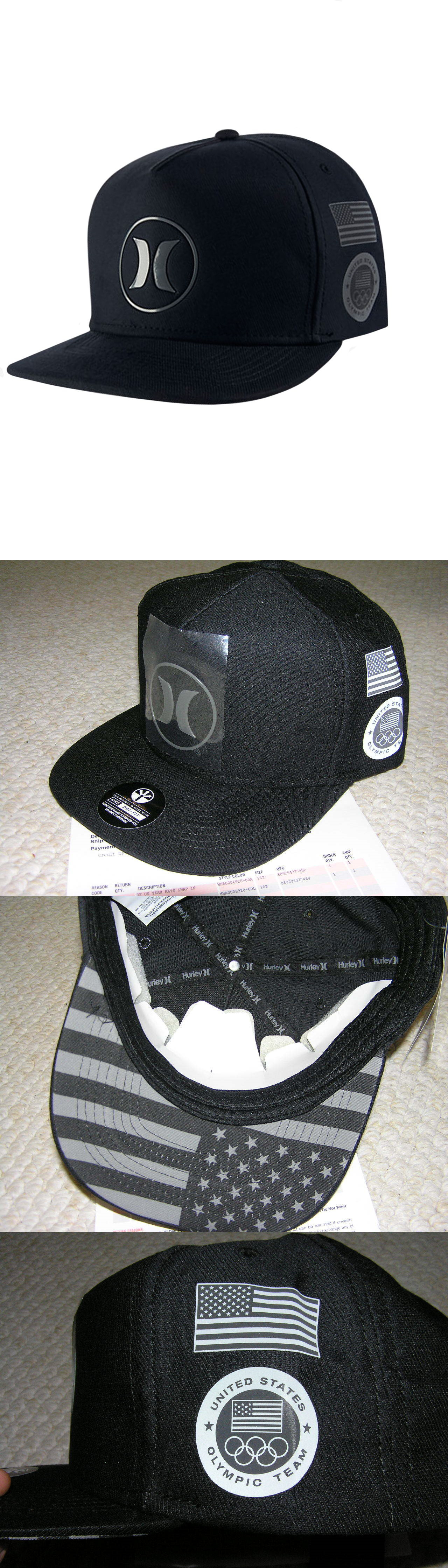 26d6f3977a0 ... buy hats 52365 hurley dri fit team usa hat snapback triple black men s  osfa olympic
