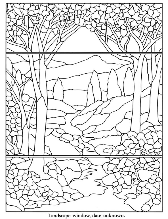 Color Your Own Tiffany Windows Dover Publications | Stained Glass ...