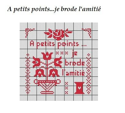 Fleur flower plant broderie embroidery a petits - Broderie point compte grille gratuite ...
