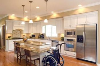 Wheelchair accessible kitchen wheelchair accessible home and accessories pinterest bar - Accessible kitchen design ...