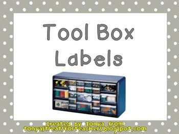 These Are Free Labels That Will Fit The Tool Box From