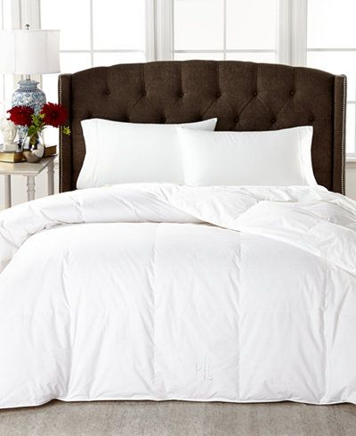 Lauren Ralph Lauren Medium Weight White Down Twin Comforter 100