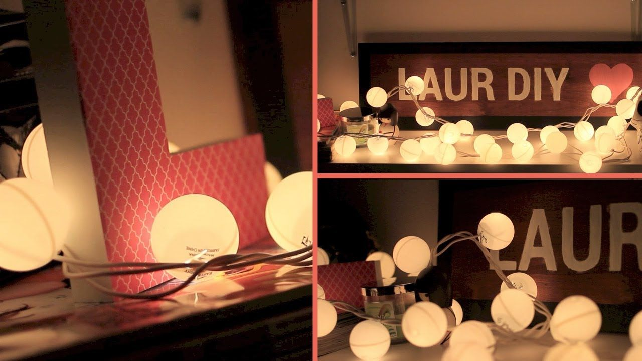 Decorating bedroom with christmas lights - Diy Room Decor Christmas Lights To Bubble Lights