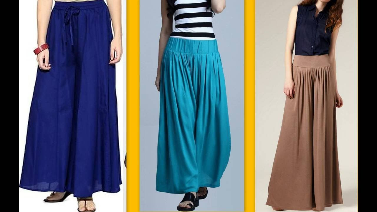 How to make latest designer palazzo pants / Tuk pleats DIY | DRESS ...