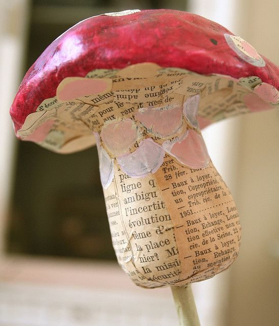 paper mache mushroom   Mushroom Madness   Paper mache, Paper mache