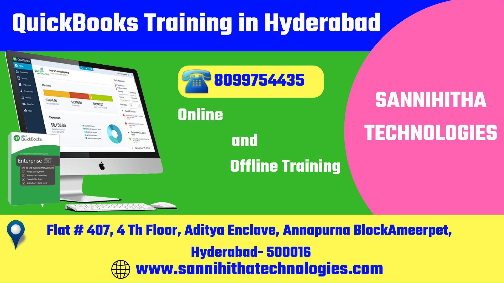 Learn Quickbooks Training in Hyderabad by experienced faculty in Accounts  and Finance, Tally ERP, Taxation, Manual Accounting, and Practical  accounting.