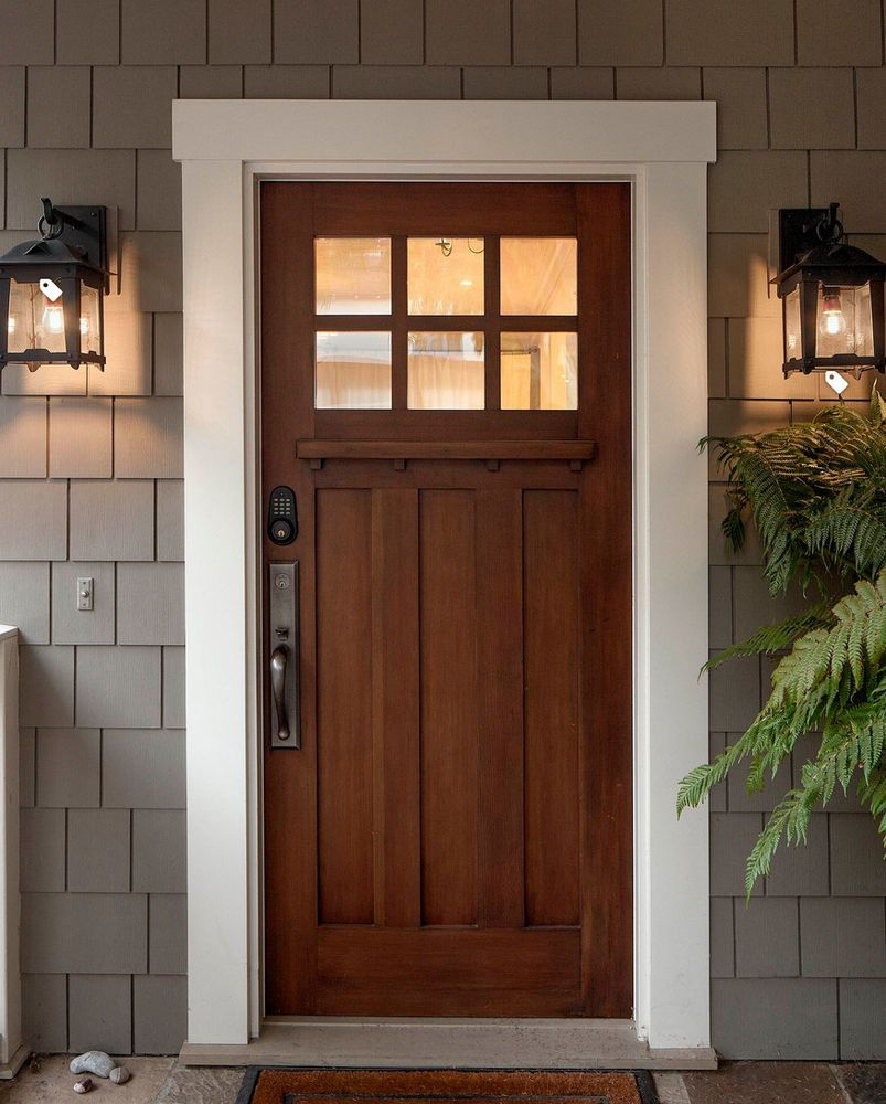 Clear Alder 6 Lite Craftsman Entry Door 36x96 Home Garden Home Improvement Building Hardware Ebay Craftsman Front Doors Front Door Design Door Design