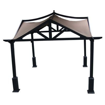 Lowes Allen Roth 10ft X 10ft Square Standard Gazebo W Extension Kit 898 Steel Gazebo Gazebo Gazebo Pergola