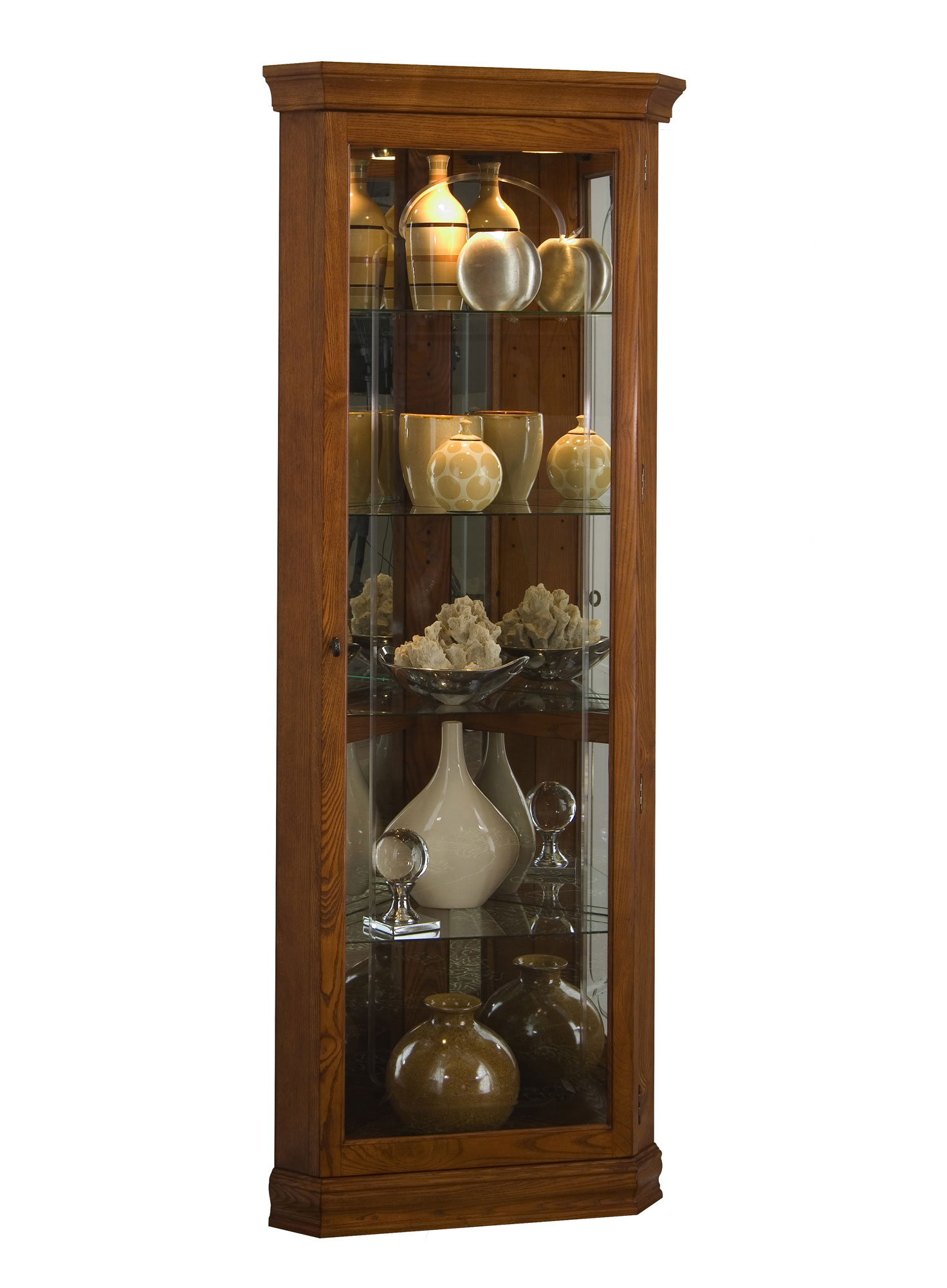 Corner Curio Wall Cabinet