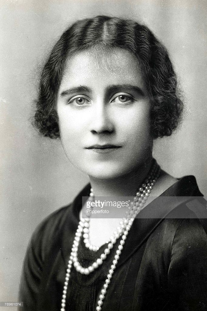 Portrait of the Queen Mother as a young lady when she was