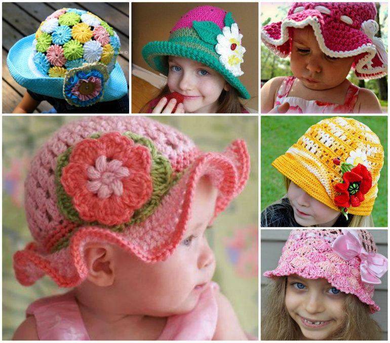 Child Crochet Sun Hat Pattern All The Best Ideas To Make Con Imagenes Ganchillo Gorros Tejidos De Ganchillo Gorritos Crochet