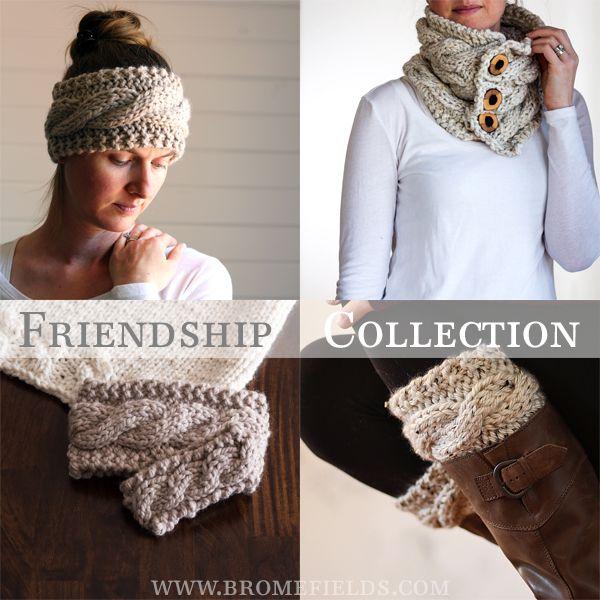 Matching set of knitting patterns! | Bufandas, cuellos y chales ...