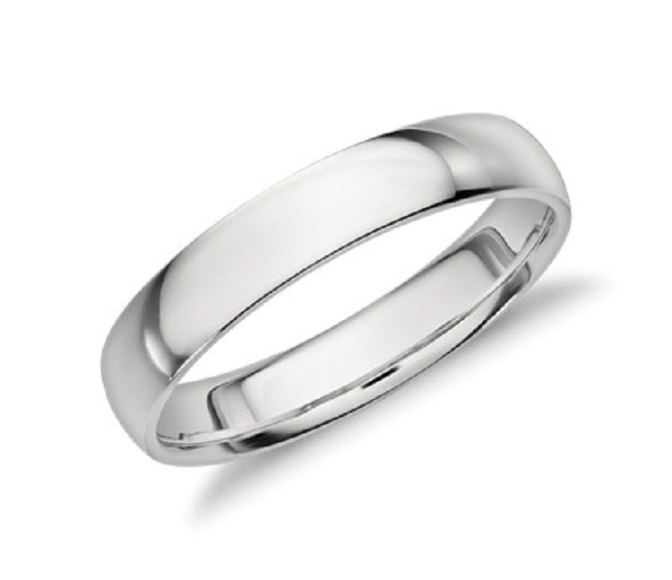 Simple Wedding Rings For Him Bling Band Topaz