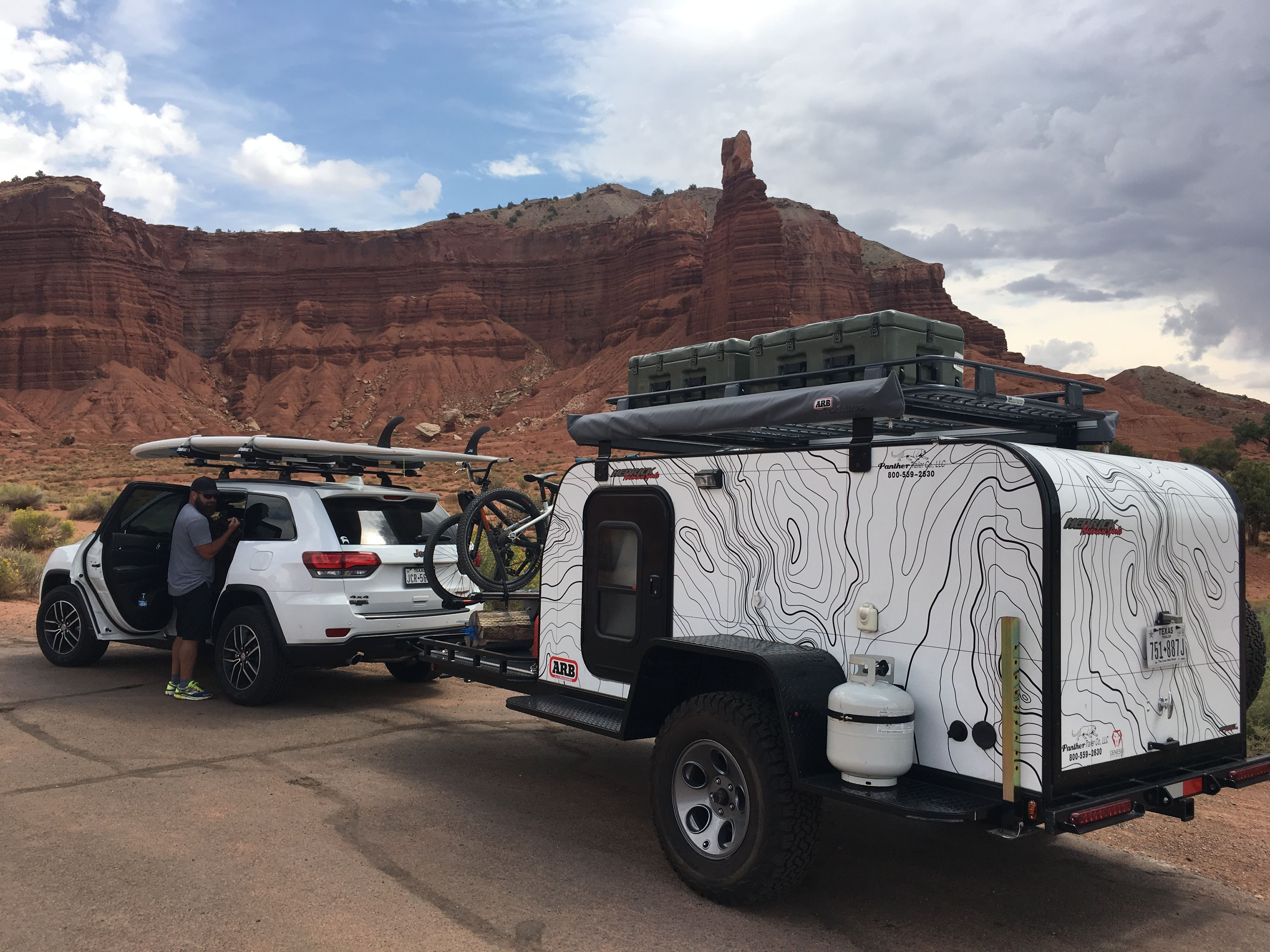 Jeep Grand Cherokee Trailhawk Panther Off Road Trailer Arb Sup