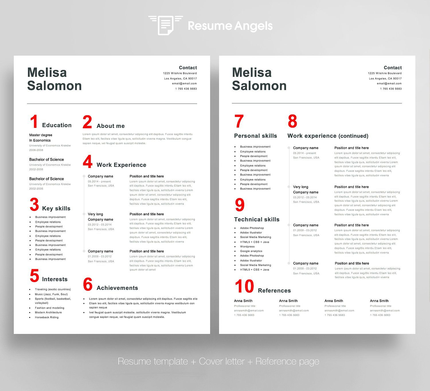 Resume Template 4 Page Swiss Simple Resume Template Resume Template Resume Template Word