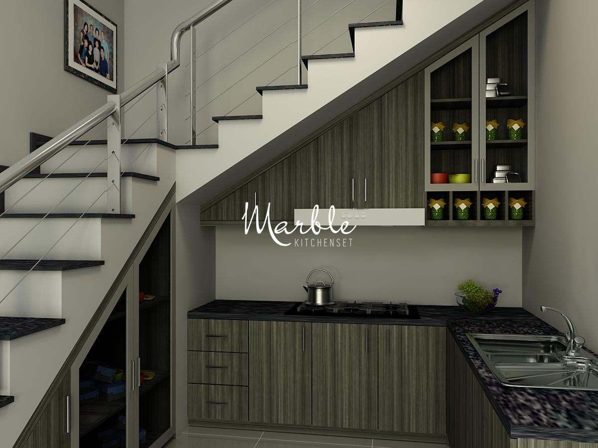 Desain Dapur Bawah Tangga Minimalis  Architect, Outdoor decor, Decor