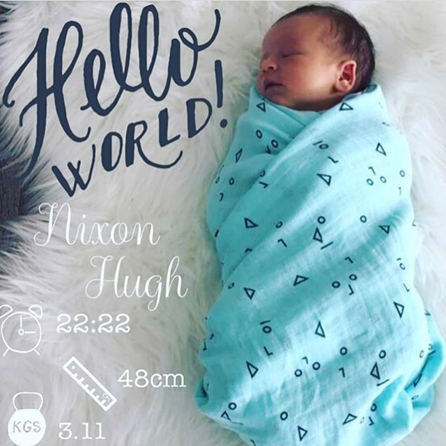 create your own birth announcement download the little nugget app to capture your
