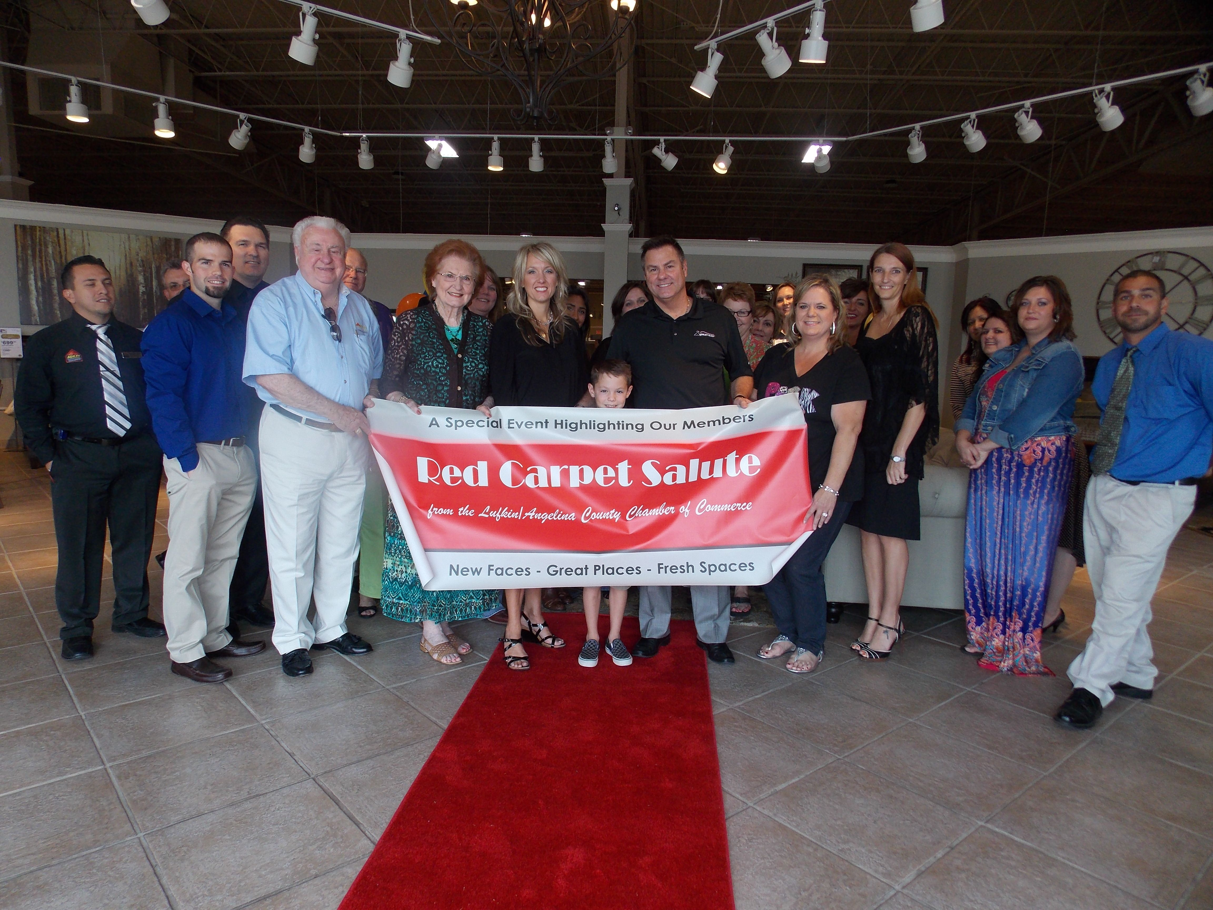 Red Carpet Salute For Ashley Furniture HomeStoreu0027s Grand Re Opening!