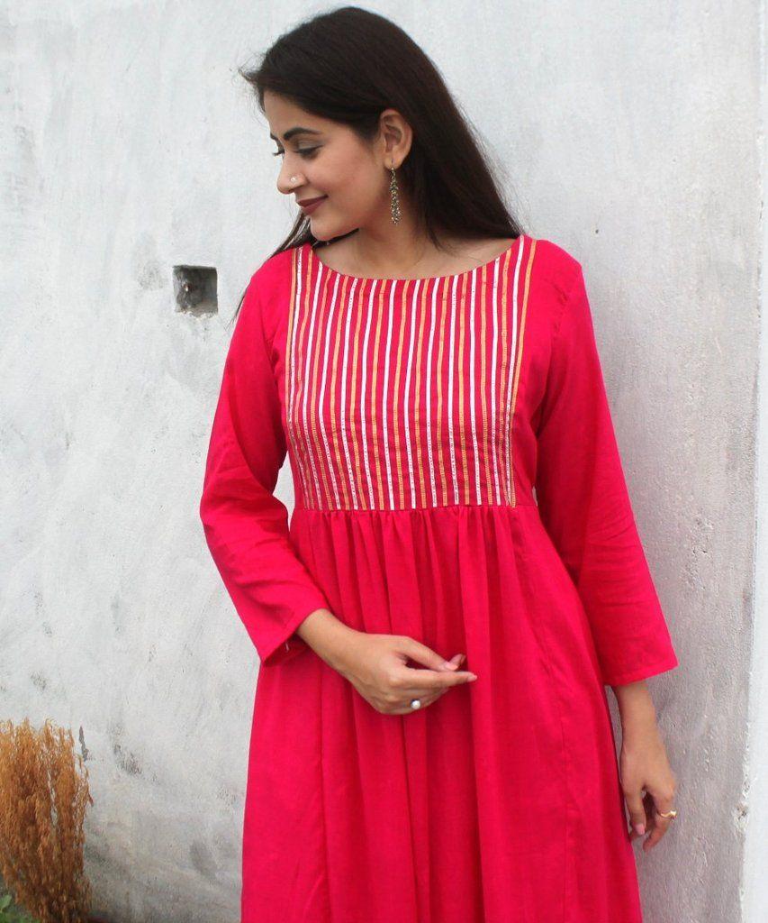 Sunehri pink gota kurti aabha pinterest kurti kurti patterns