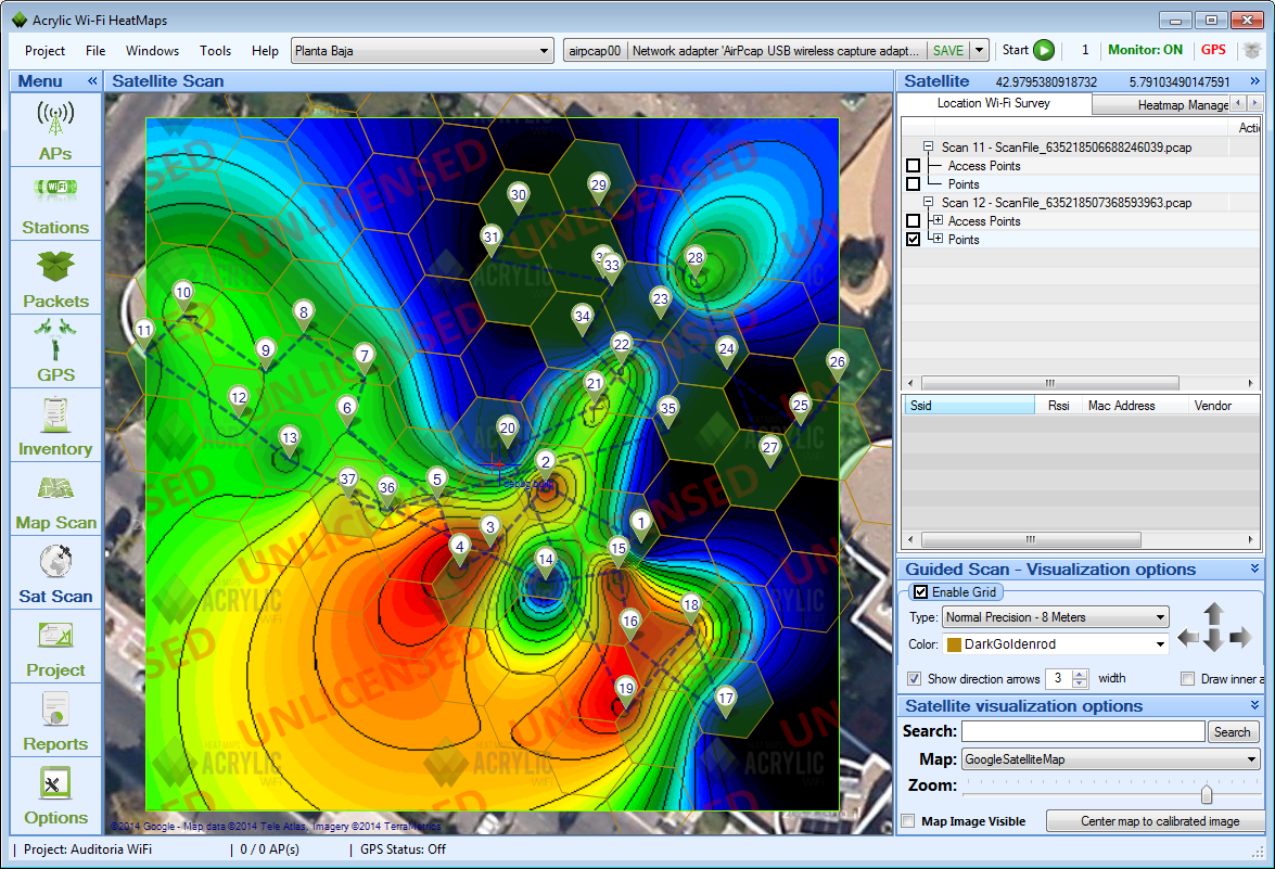 WiFi Heat Map And Coverage Map Acrylic WiFi Heatmaps V Preview - Wifi map software
