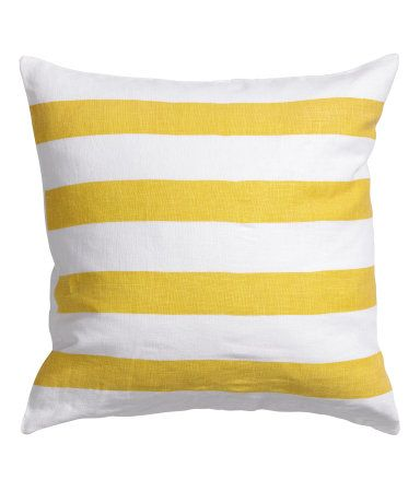 Product Detail H Amp M Us Linen Cushion Cover Yellow 20