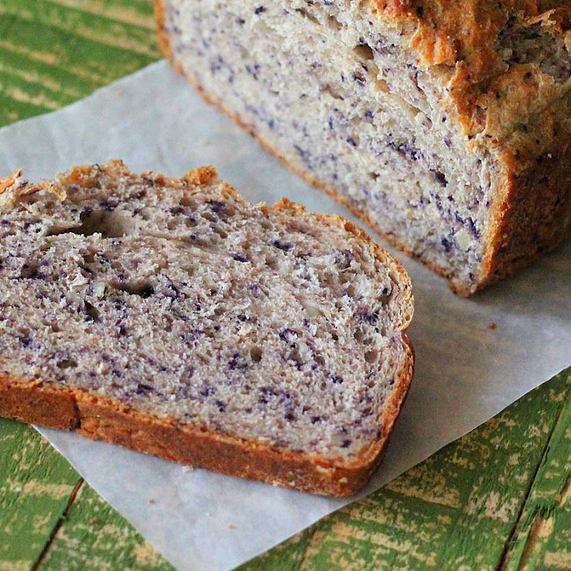 Berry Blog Hop: Blueberry Almond yeast Bread Loaf. vegan ...