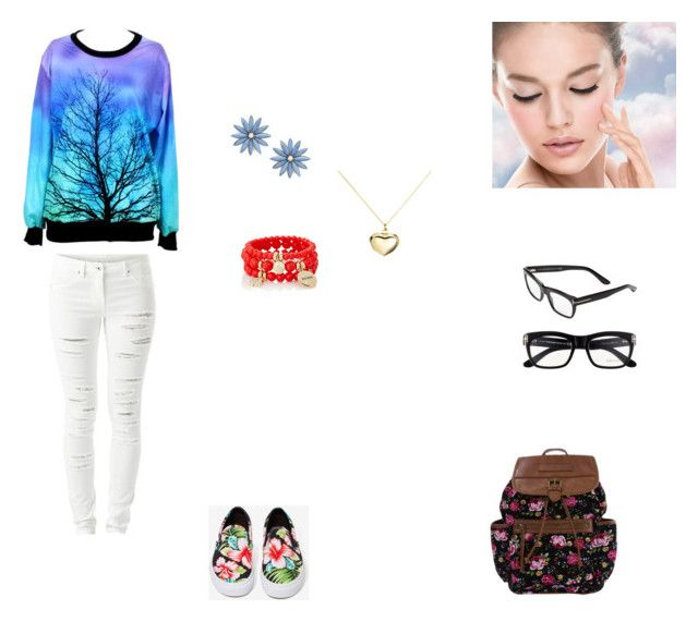 """""""Idk"""" by sabrina-blue on Polyvore featuring VILA, Vans, Tom Ford, R.J. Graziano, The Limited, Argento Vivo and Maybelline"""