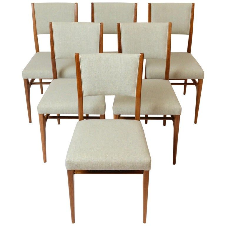 Set Of Six Gio Ponti Chairs 602 Cassina Italy Circa 1955