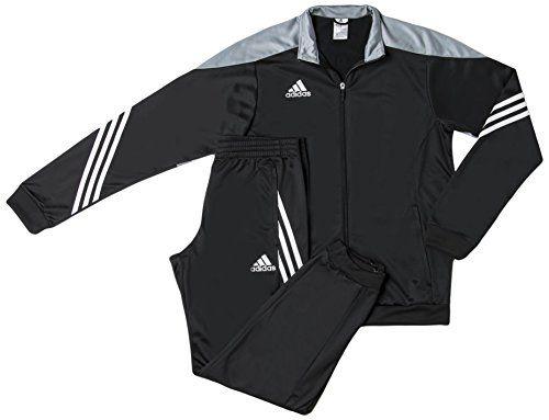 4c180bfa7b39 Adidas Men s Football Tracksuit - Black Silver White