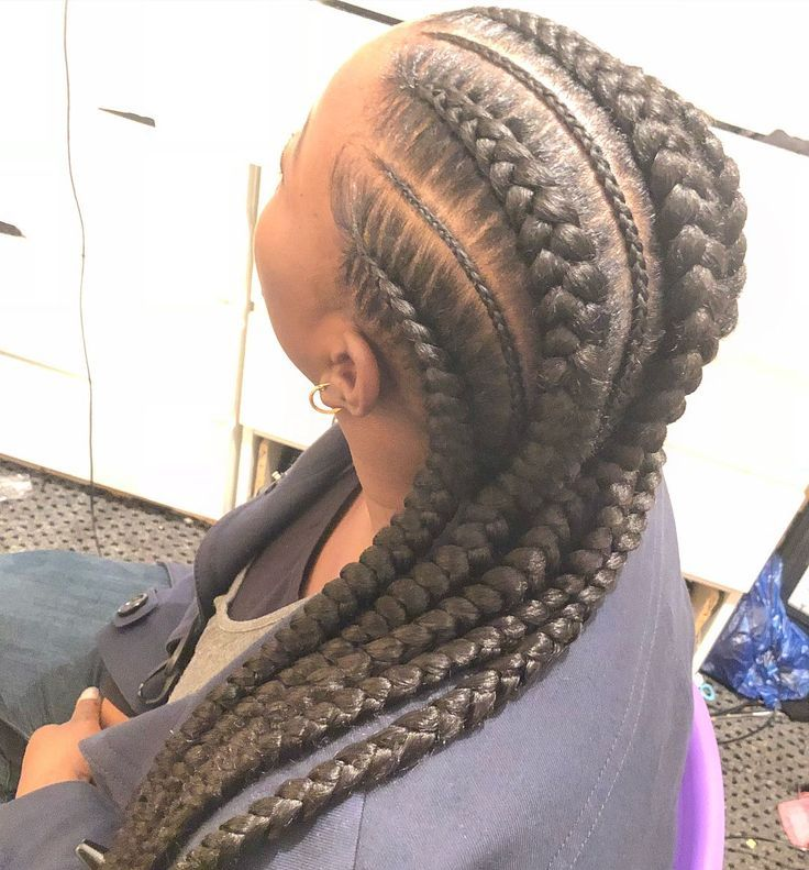 Feed In Braids Cornrows Straight Back in 2020 | Feed in braid, Cornrows, Straight back cornrows