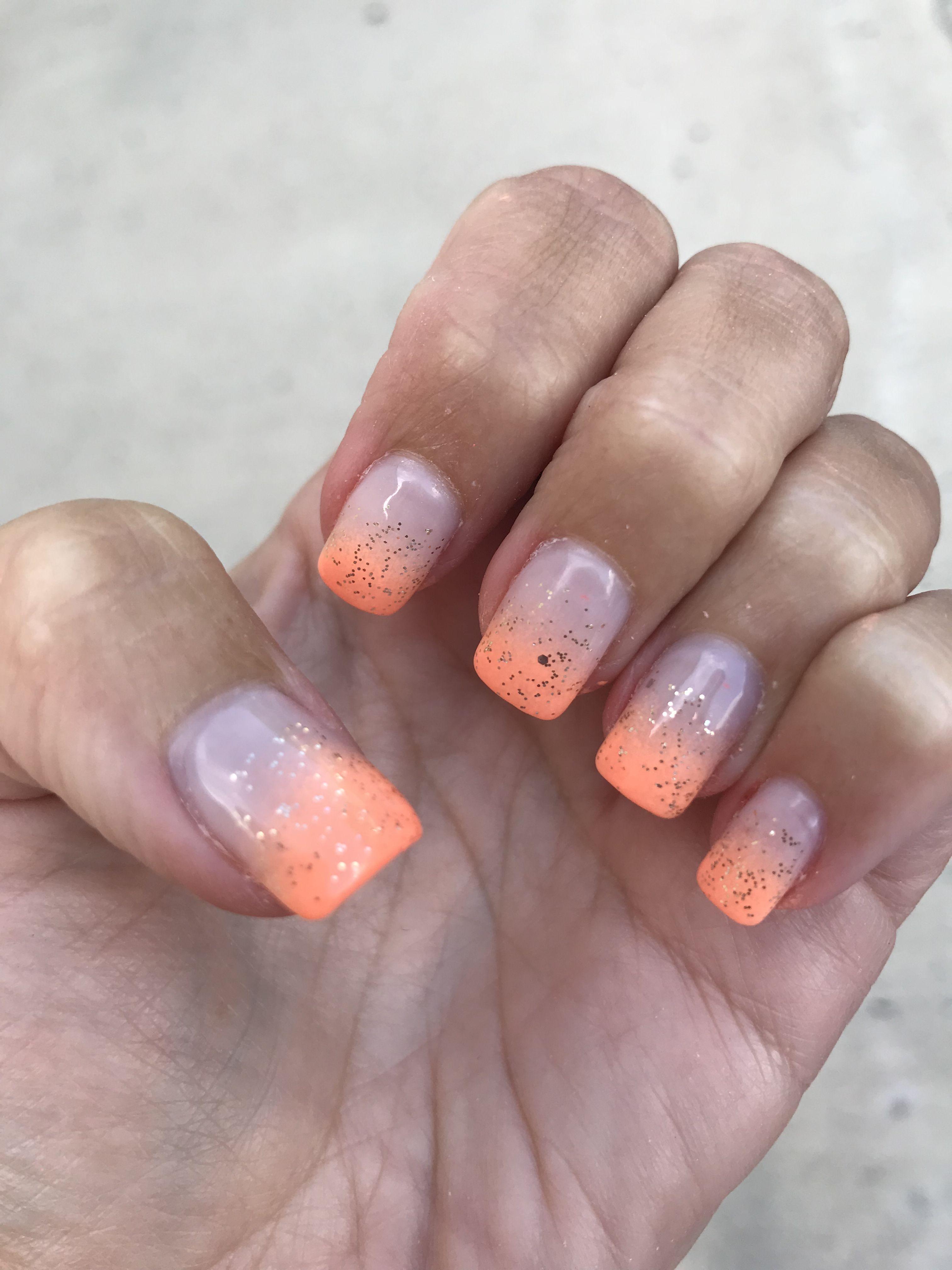 Dnd Gel Polish Soft Orange Ombre French