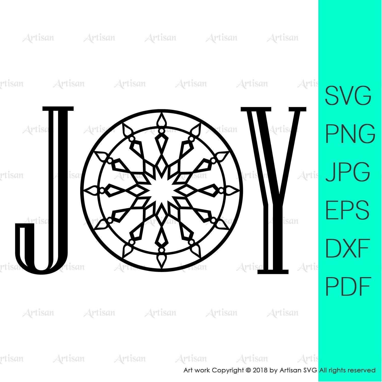 Joy svg christmas joy svg files for cricut joy sign svg
