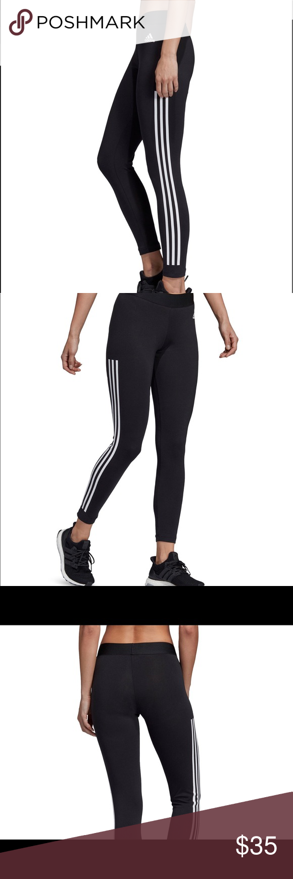 NWT Adidas Originals 3 Stripe Leggings NWT Adidas Originals 3 Stripe Leggings  Women size Medium  Brand new with tags still attached  Excellent Condition  No Flaws Never Worn .   Athleisure •  Soft stretch jersey •  Exposed waistband; three stripes at sides •  Cotton/elastane adidas Pants Leggings #stripedleggings