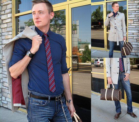 Navy blue dress shirt what color tie