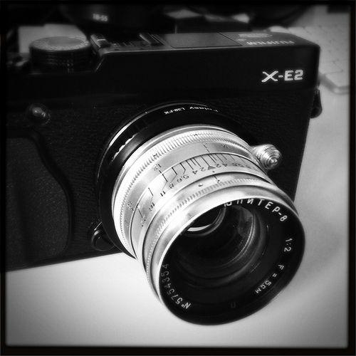 Fuji X-E2 with a Jupiter 8 lens   Fujifilm X   Fuji camera